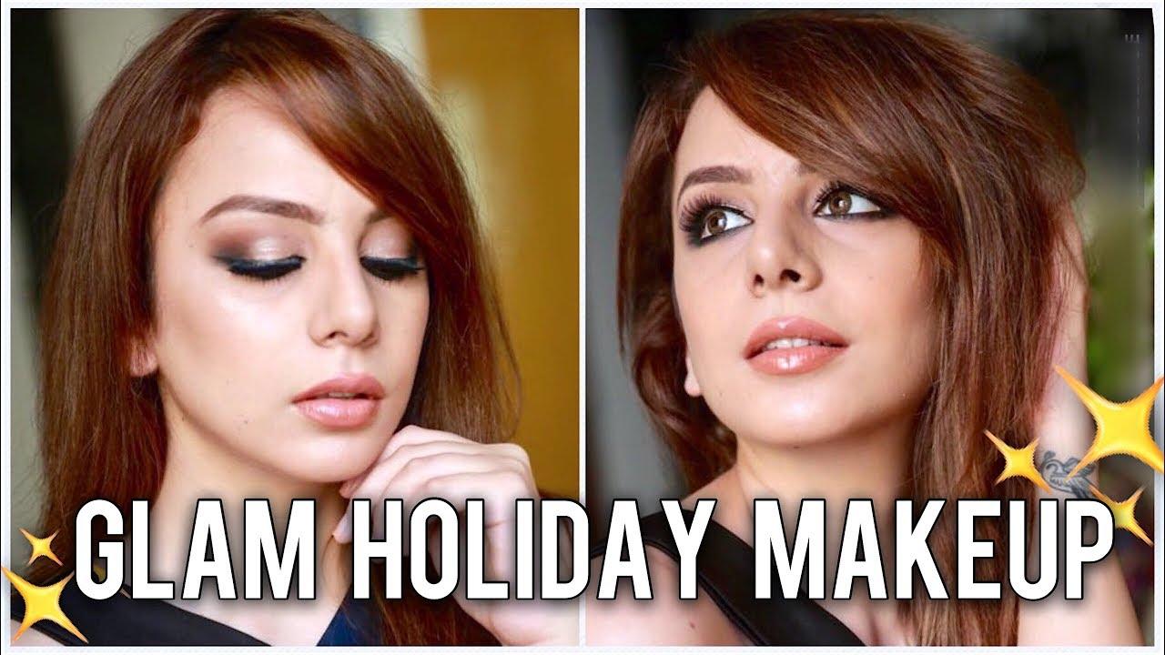GLAM Holiay Makeup | SMOKEY EYES Tutorial