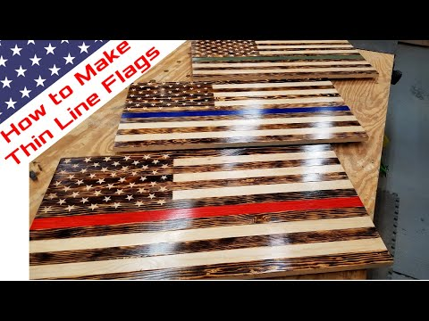 Make Wood American Flag | How To | DIY Red Line Flag