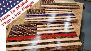 Make Wood American Flag   How to   DIY Red Line Flag