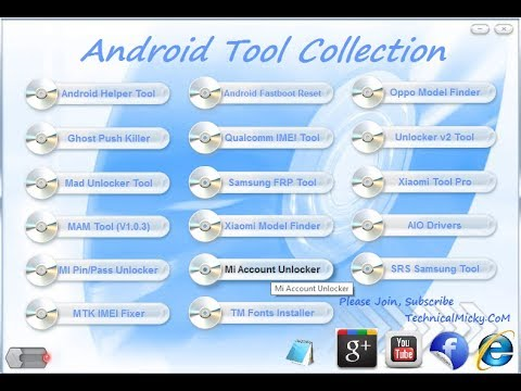 Android Tool Collection 2017 All AIO Frp Tool | IMEI Tool