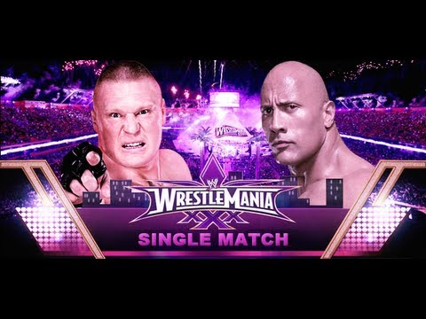 The Rock vs Brock Lesnar Wrestlemania 30 Promo HD - YouTube