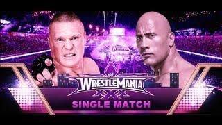 The Rock vs Brock Lesnar Wrestlemania 30 Promo HD