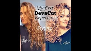 My First DevaCut + Styling - Before and After - by Ana Sandee
