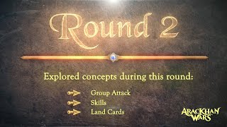 AracKhan Wars competitive battle card game Group Attack / Skills / Land Cards concepts Tutorial 3/5