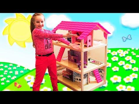 Doll House / Мебель для кукол / Деревянный кукольный домик / кукольная мебель / Dollhouse for girls