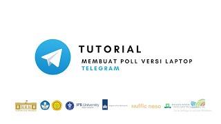 Telegram - Tutorial Membuat Poll Versi Laptop