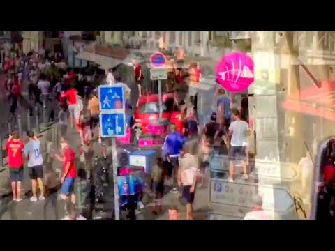 Russian hooligans vs England hooligans EURO 2016 in Marseille