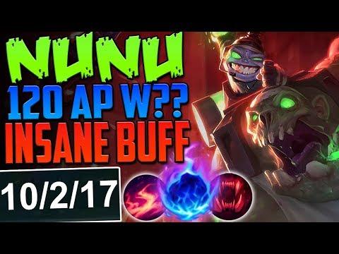 NUNU 120 AP W INSANE BUFF | ARE YOU KIDDING ME? | New Runes Nunu vs Jax TOP Season 8 PBE Gameplay