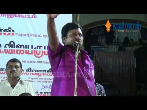 Actor Ramarajan and Valarmathi on Stage | Emotional Speech against DMK