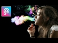 Tutorial edit asap rokok berwarna menggunakan picsart di android hp mp3