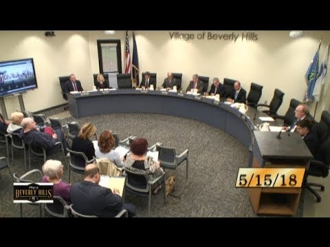Village of Beverly Hills Council Meeting 5/15/18