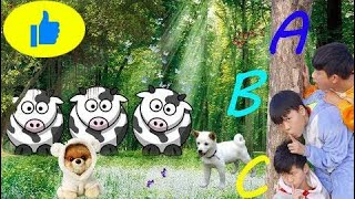 Kids To Take The Bus go to School Learn Color Cows Animals  Kids Wheels On The Bus 2018  # 507
