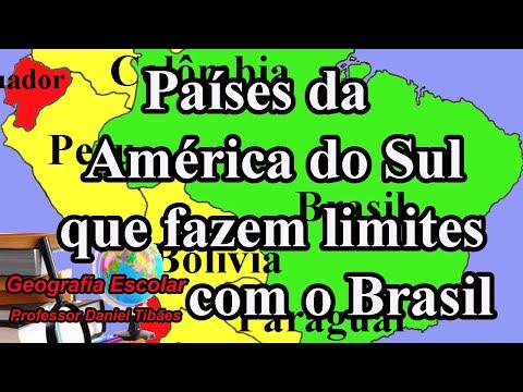 Países Que Fazem Fronteira Com O Brasil - 7º Ano
