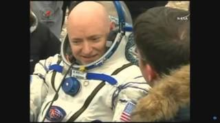 Expedition 46 Soyuz, crew extraction. One year crew back on earth!