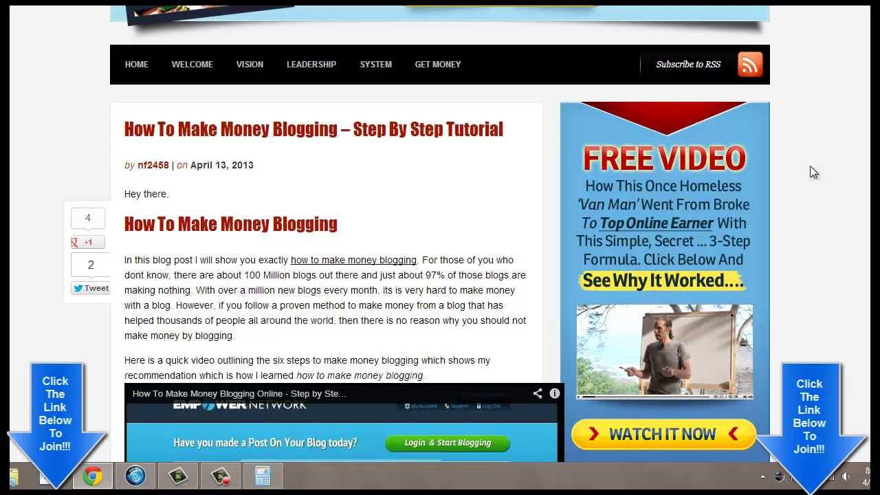 How To Make Money Online Blogging From Home  Must See