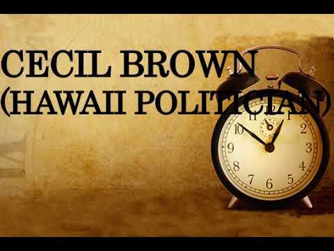 Cecil Brown Hawaii politician