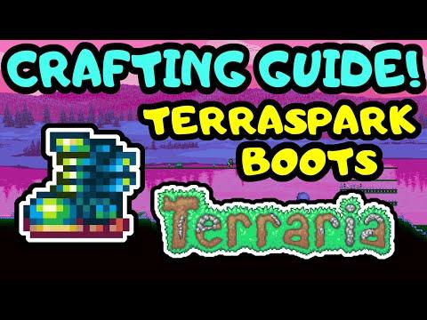 TERRARIA TERRASPARK BOOTS CRAFTING GUIDE! Step by Step Beginner Terraspark Boots Guide Terraria 1.4!