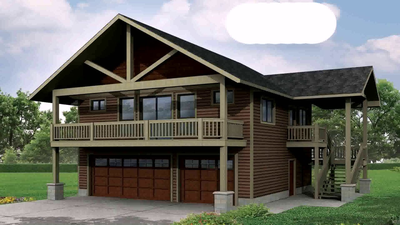 Small house plans with big garage youtube for Large garage plans