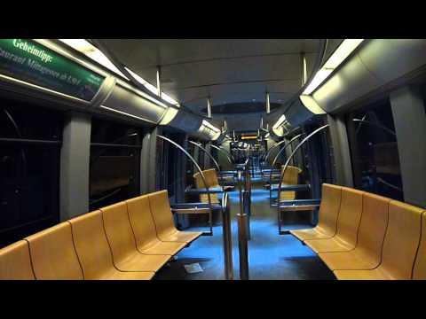 U-Bahn München: Mitfahrt C-Zug 607 als Linie U3 Moosach nach Olympiazentrum