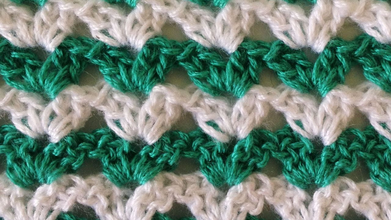 Stitch repeat shell 1 free crochet pattern right handed youtube bankloansurffo Image collections