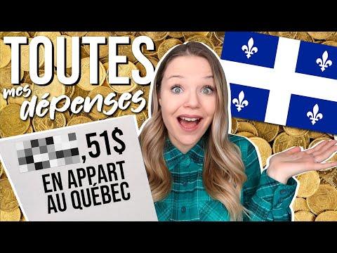 Coût De La Vie Au Québec: J'expose TOUTES MES DÉPENSES Pour 1 MOIS! 😱💰
