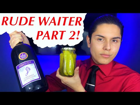 [ASMR] Rude Waiter Role Play Part 2! (Fancier Tingles!)