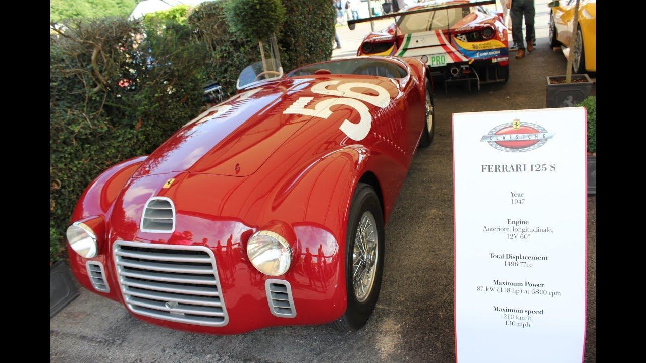 The Sound Of Legendary Ferrari Ferrari 125s グッドウッド Goodwood Youtube
