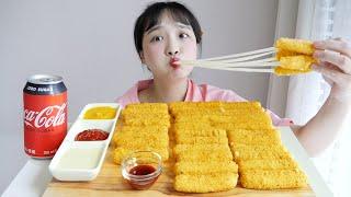 롯데리아 치즈스틱 먹방⭐소원을 이룬 치즈의 날 REAL…
