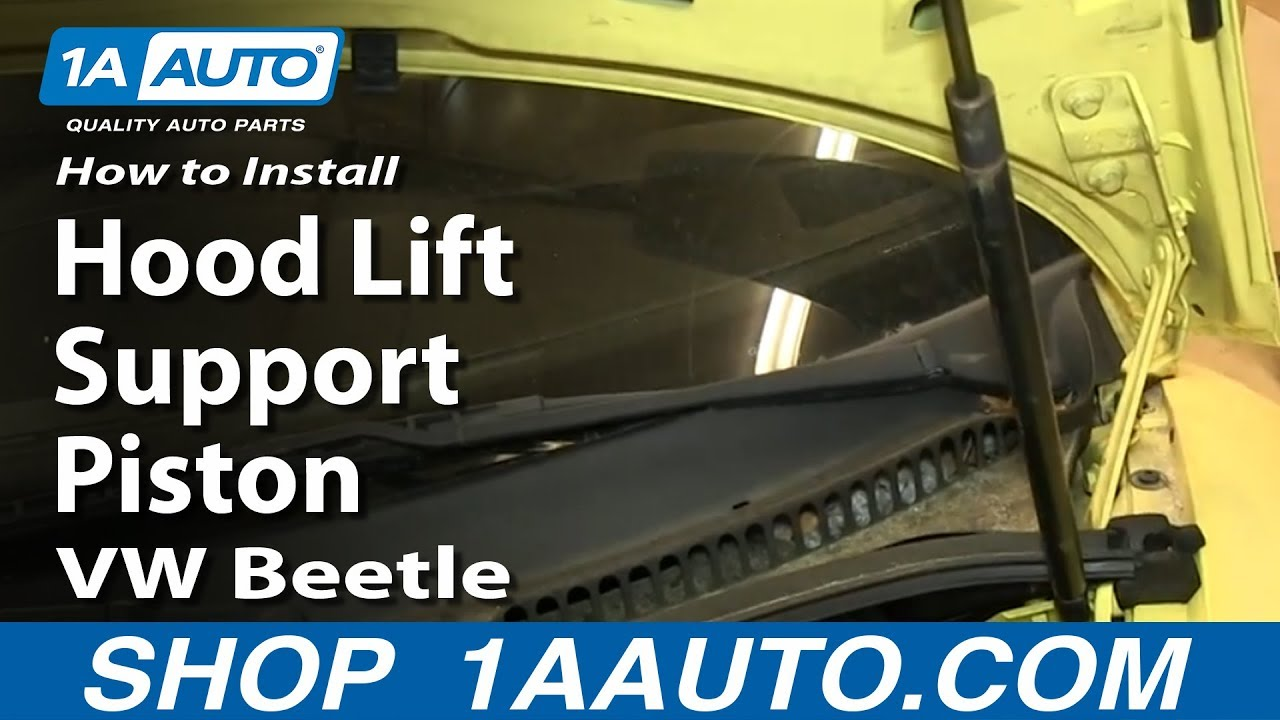How To Install Replace Hood Lift Support Piston VW Beetle - YouTube