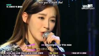 Davichi - It's Because I Miss You Today LIVE [eng sub / roman]