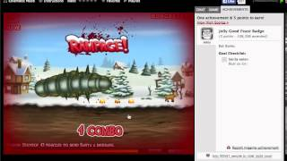 Effing Worms Xmas Walkthrough (Easy Badge)