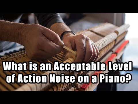 What is an Acceptable Level of Action Noise on a Piano?