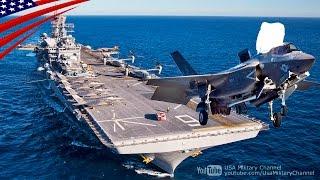 新型「アメリカ級強襲揚陸艦」でのF-35B戦闘機の艦上運用試験 - F-35B Fighters Flight Operations Test on USS America (LHA-6)