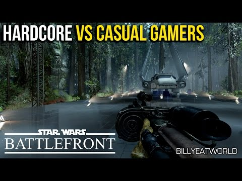 Hardcore vs Casual Gamers - Which Are You? (SWBF Gameplay)