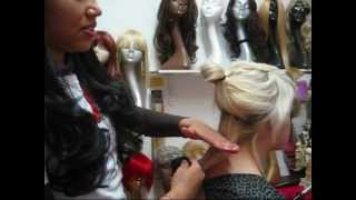 How To Put In Clip In Hair Extensions (Short Hair Mixing Colors)