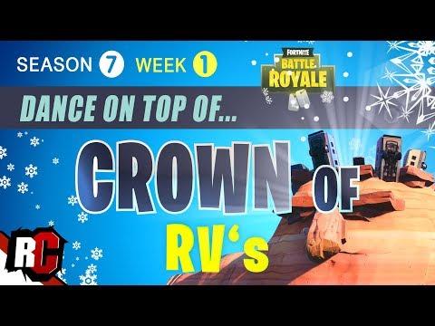 Fortnite Dance On Top Of A Crown Of Rv S Season 7 Week 1
