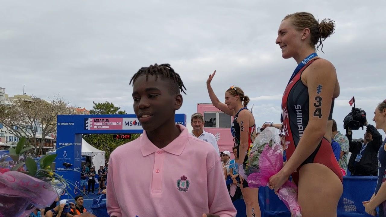 Itu Series Bermuda World Women Podium Triathlon Elite 2019 e9YWH2EDI