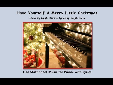 Have Yourself a Merry Little Christmas - Easy Piano (with lyrics) - YouTube