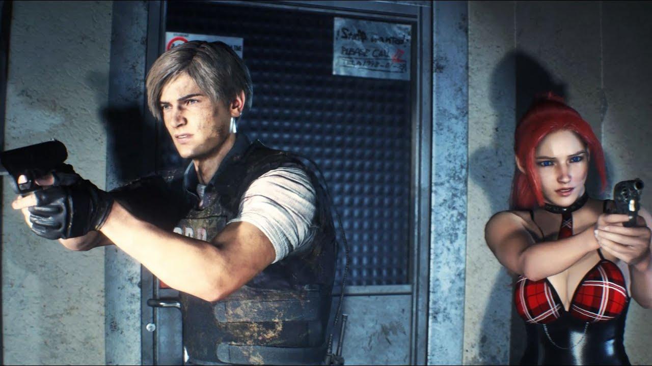 Resident Evil 2 Mod Cutscene Claire Redfield School Girl [4K]