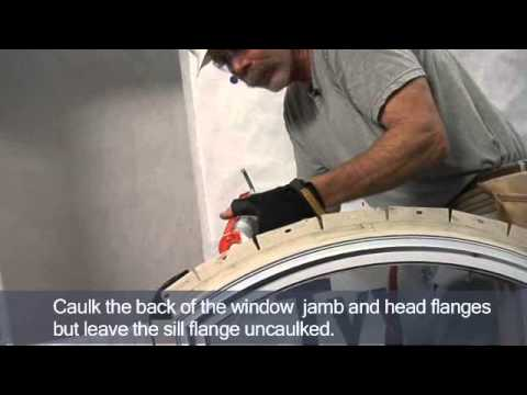 Install And Flash An Arch Top Window With Field Applied