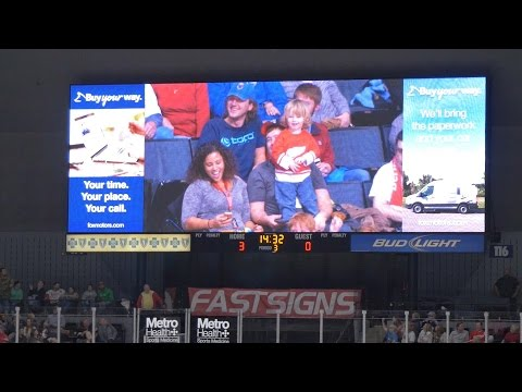 Boo Yeah Kid shows up at Griffins game