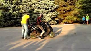 Трюки с мотоциклами, дрифт + скутер DRIFT