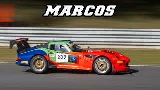 Marcos Lm500 & Mantis GT | Loud V8 fly-by's