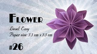Origami Tutorial - How to fold Origami Kusudama Flower step-by-step - DIY