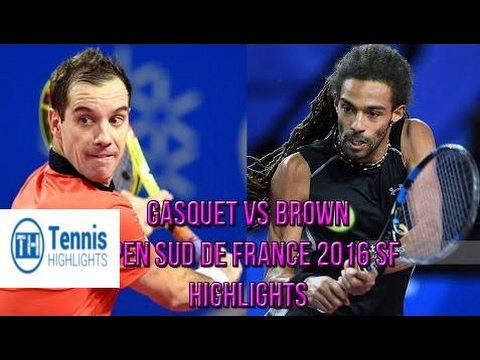 ♦Tennis Highlights♦ Richard Gasquet Vs Dustin Brown - Open Sud de France Montpellier SF 2016 (Highl