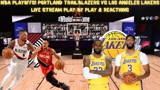 Game 4 portland trailblazers vs. los angeles lakers***disclaimer; due to nba copyright laws no footage will be shown during this stream.***but please st...