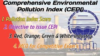 CPCB I Comprehensive Environmental Pollution Index (CEPI) For Industries Pollution Index score I MCQ