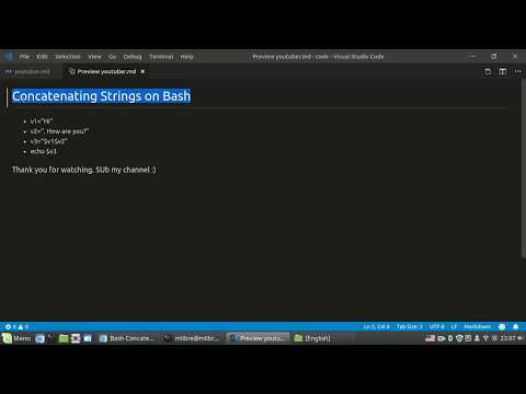Concatenating Strings On Bash
