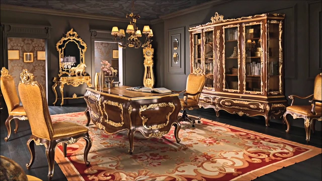 Classic office studio atelier luxury interior design home decor youtube Classic home office design ideas