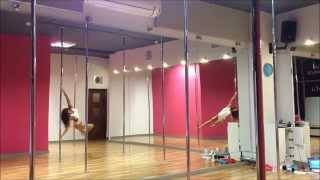 pole dance freestyle static & spinning pole